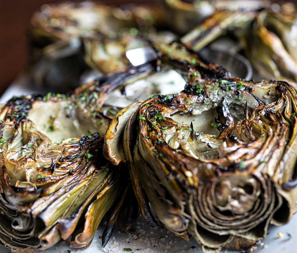 Fire Grilled Artichokes